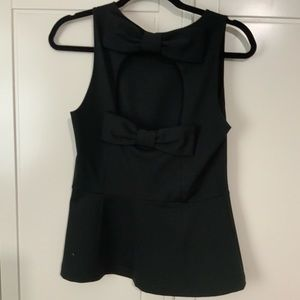 NWOT Kate Spade Black Top  bow cut out in back 8
